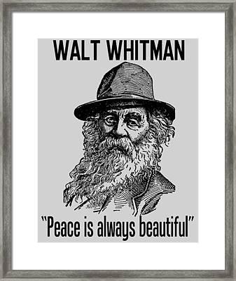 Walt Whitman Framed Print by Otis Porritt