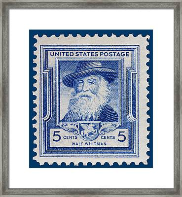 Walt Whitman Postage Stamp Framed Print by James Hill