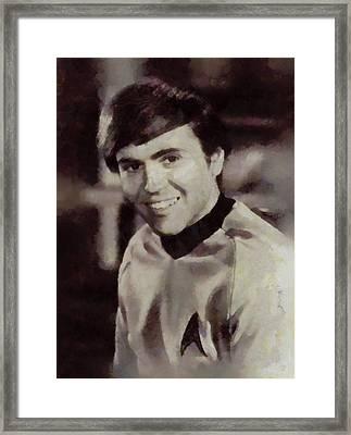 Walter Koenig, Star Trek Vintage Framed Print by Sarah Kirk