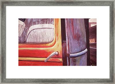 Framed Print featuring the painting Walter by Laurie Stewart