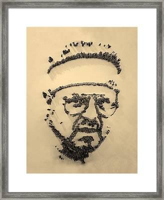Walter Sobchak Nailed Sepia Framed Print by Rob Hans