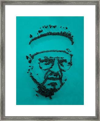 Walter Sobchak Nailed Turquoise Framed Print by Rob Hans