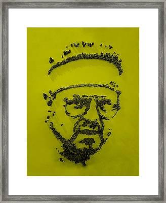 Walter Sobchak Nailed Yellow Framed Print by Rob Hans