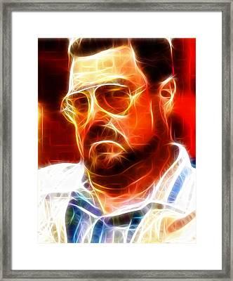 Walter Sobchak Framed Print by Paul Van Scott