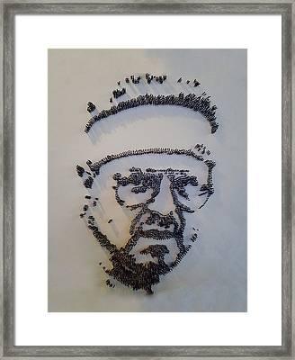 Walter Sobchak Nailed Framed Print by Rob Hans