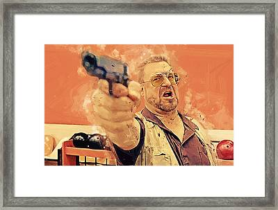 Walter Sobchak - The Big Lebowski Framed Print