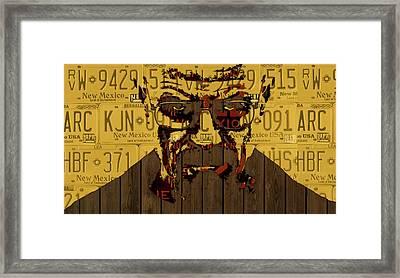 Walter White Breaking Bad New Mexico License Plate Art Framed Print