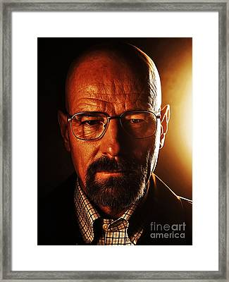 Walter White Framed Print by The DigArtisT