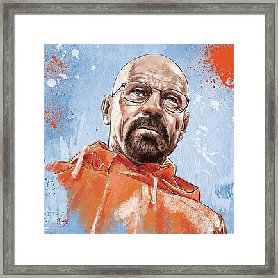 Walter White Framed Print by Tony Santiago