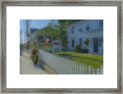 Walter's Barber Shop Framed Print