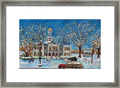 Waltham Common Shimmering Framed Print by Rita Brown