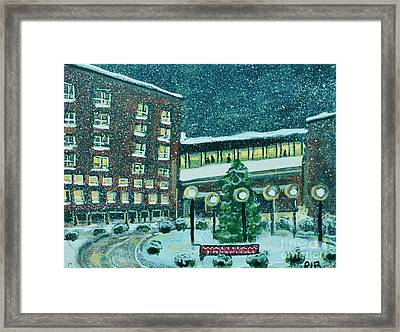 Waltham Hospital On Hope Ave Framed Print by Rita Brown
