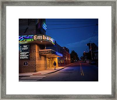 Waltham Ma Embassy Theater Framed Print