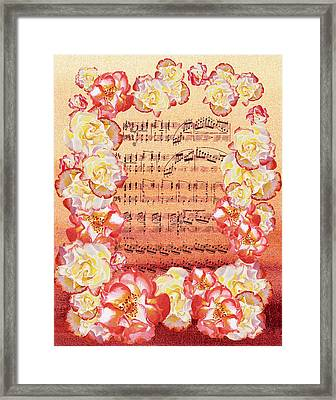 Waltz Of The Flowers Dancing Roses Framed Print by Irina Sztukowski