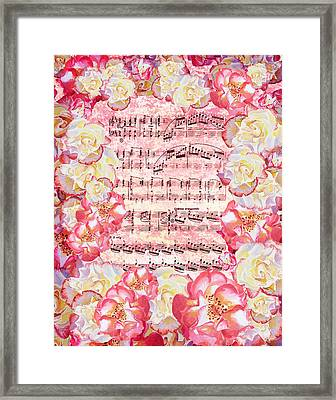 Waltz Of The Flowers Sweet Roses Framed Print by Irina Sztukowski