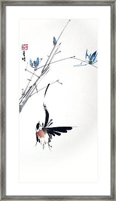 Waltzing At Dawn Framed Print by Ming Yeung