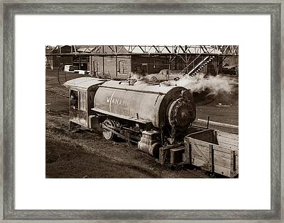 Wanamie Pennsylvania Coal Mine Locomotive Lokey 1969... Framed Print