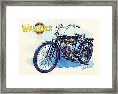 Wanderer Classic Bike Framed Print