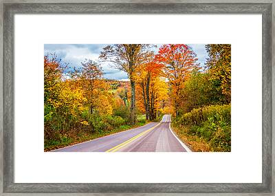 Wandering In The Endless Mountains 5 Framed Print by Steve Harrington