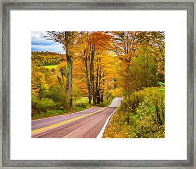 Wandering In The Endless Mountains 6 - Paint Framed Print by Steve Harrington