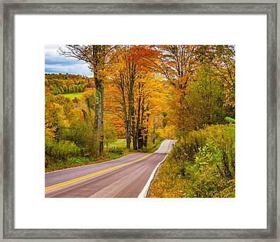 Wandering In The Endless Mountains 6 Framed Print by Steve Harrington