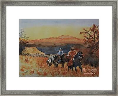 Wandering Knights Framed Print by Lise PICHE