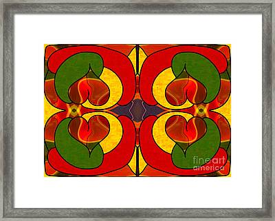 Wandering Levels Of Transformation Abstract Art By Omashte Framed Print by Omaste Witkowski
