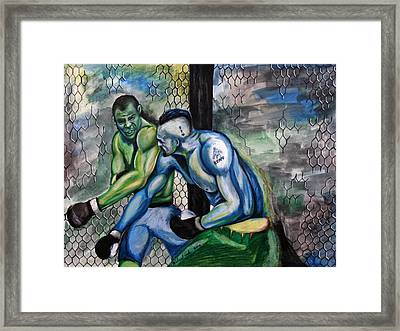 Wanderlei Silva Vs. Chuck Lidell Framed Print by Michael Cook