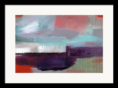 Horizontal Abstract Landscape Framed Prints