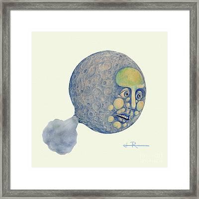 Waning Moon Framed Print by Jim Rehlin