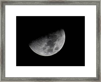Waning Moon Framed Print by L L