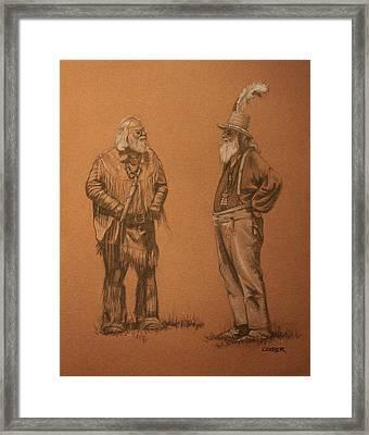 Wanna Buy A Hat? Framed Print