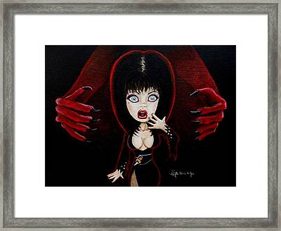 Framed Print featuring the painting Wanna Hug  by Al  Molina