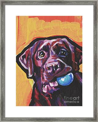 Wanna Play Ball Framed Print by Lea
