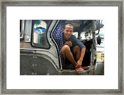 Wanna Ride 10 Pesos Framed Print by Jez C Self