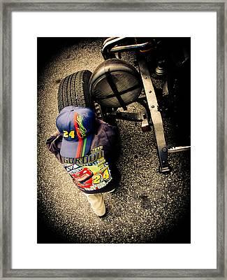 Wanna Test Drive? Framed Print by Jessica Brawley