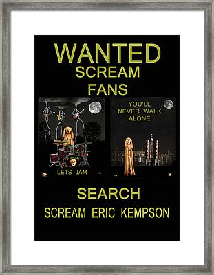 Wanted Scream Fans Framed Print