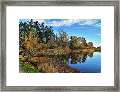 Wapato Lake Framed Print