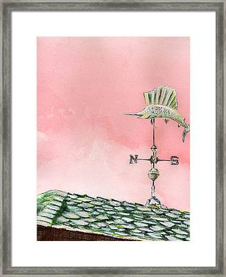 Wappoo Windvane Framed Print by Thomas Hamm