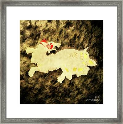 War Beast By Sarah Kirk Framed Print