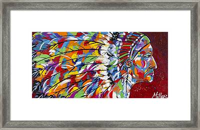 War Bonnet Framed Print by Tracy Miller