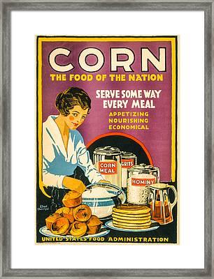War Corn Framed Print by David Letts