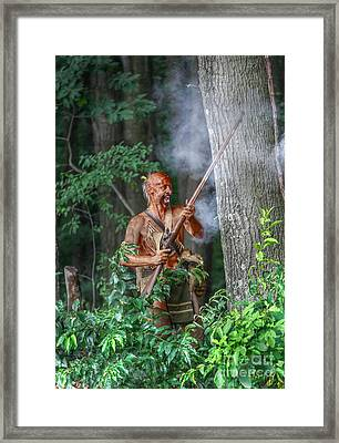 War Cry Indian Warrior Framed Print by Randy Steele