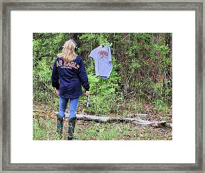War Damn Target Shooting Framed Print by JC Findley
