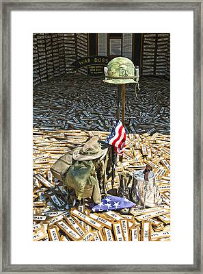 War Dogs Sacrifice Framed Print