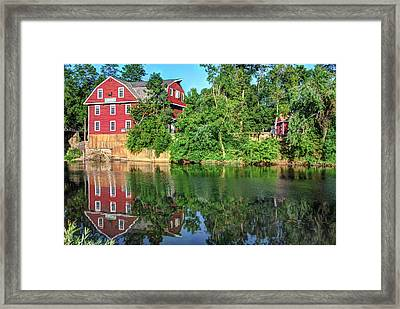 War Eagle Mill On The River - Northwest Arkansas Framed Print by Gregory Ballos
