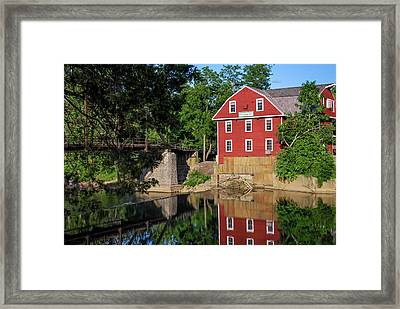 War Eagle Mill Perfect Reflection - Northwest Arkansas Framed Print by Gregory Ballos