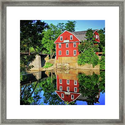 War Eagle Mill Reflection - Northwest Arkansas Framed Print by Gregory Ballos