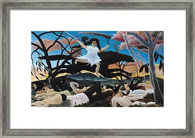 War Framed Print by Henri Rousseau