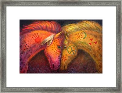 War Horse And Peace Horse Framed Print